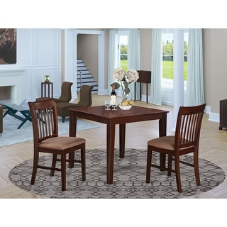 Link to Mahogany Square Table and 2 Kitchen Chairs 3-piece Dining Set Similar Items in Dining Room & Bar Furniture
