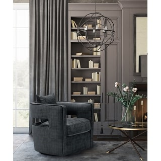 Link to Kennedy Black Swivel Chair Similar Items in Accent Chairs