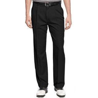 PGA Tour Stretch Double Pleated Front Golf Pants Caviar Black 40 x 32