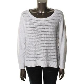 Eileen Fisher Womens Linen Blend Long Sleeves Pullover Sweater - L