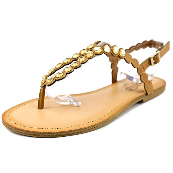 Unlisted Kenneth Cole Magic Coin Women Open Toe Synthetic Brown Sandals