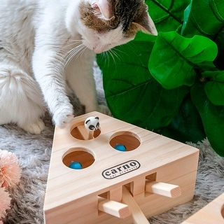 Cat Hunt Toy Interactive 3/5-holed Mouse Seat Scratch