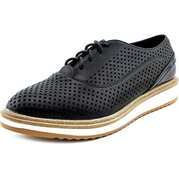 Wanted Macdaddy Women Round Toe Synthetic Black Oxford
