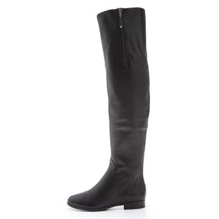 Juicy Couture Womens Morell Leather Closed Toe Over Knee Fashion Boots