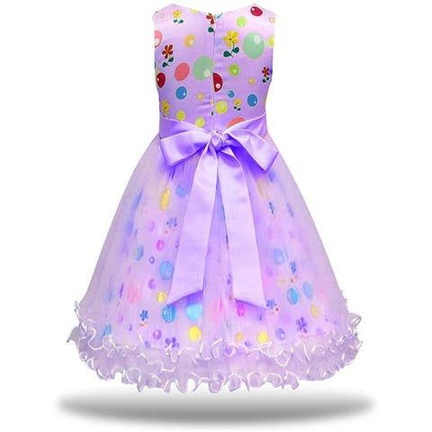 MagJazzy Girls Tutu Princess Dress Doll Digital Print Sleeveless Pageant Gown... - 3