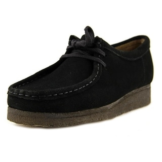 Clarks Originals Wallabee Men  Round Toe Leather Black Desert Boot