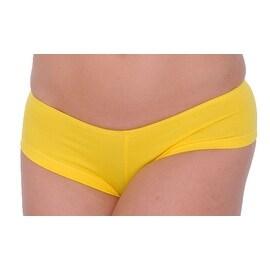 Women's Basic Yellow Booty Hot Boy Shorts Panties Sexy Hipster Underwear