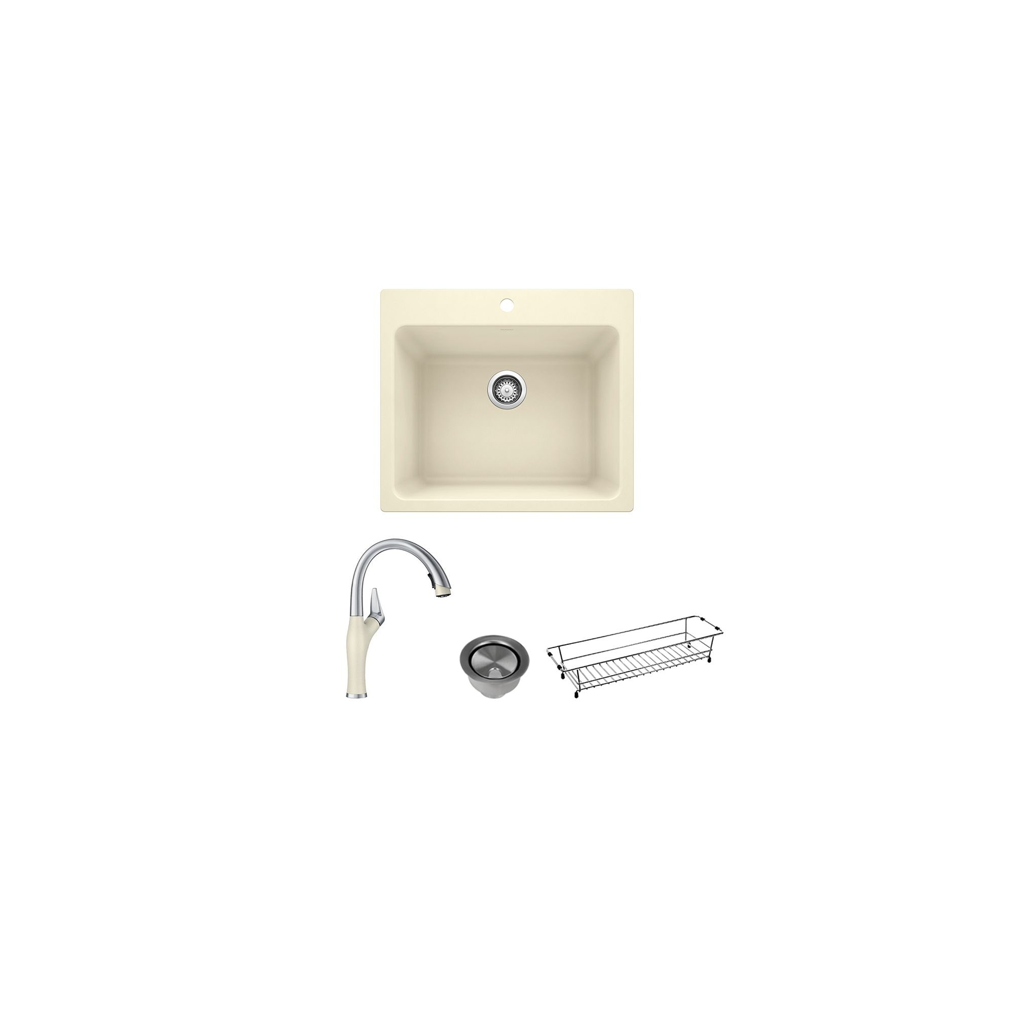 Blanco Liven Laundry Sink With Pull Down Faucet Basket And Strainer 22 X 25 X 12 22 X 25 X 12 Overstock 31927539
