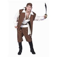Caribbean Pirate Costume - Size Adult Standard
