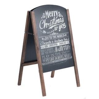 Costway 40'' Wood A-Frame Chalkboard Sign Menu Board Sidewalk Wedding Signage