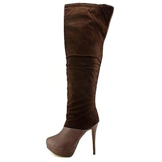 Michael Antonio Womens Hesper Sue Over-The-Knee Boots Microfiber Platform