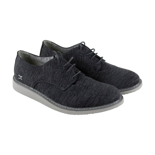 Hey Dude Verona Stretch Mens Gray Textile Casual Dress Lace Up Oxfords Shoes