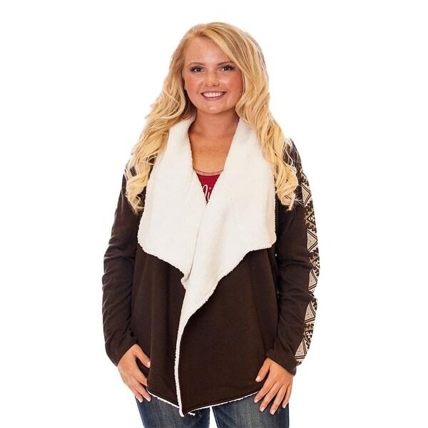 Shop Cowgirl Tuff Western Sweater Womens Ls Wrap Cardigan Chocolate
