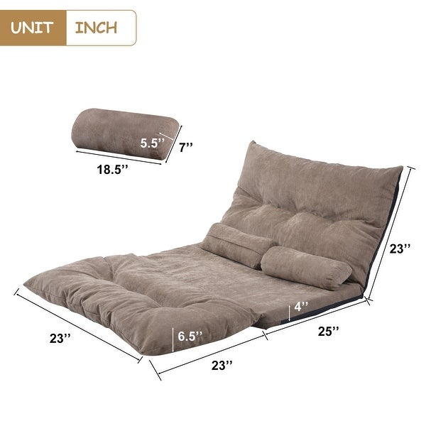 Porch & Den Owyhee Adjustable Folding Sofa Bed with 2 Pillows