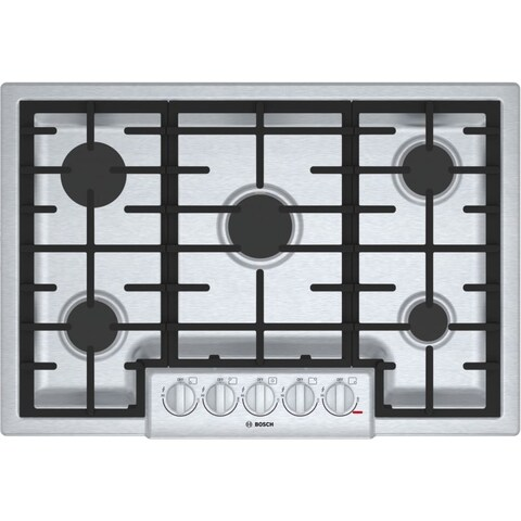 Bosch NGM8056UC 800 Series 30 Inch Wide Built-In Gas Cooktop with 5 Sealed Burne - STAINLESS STEEL - N/A