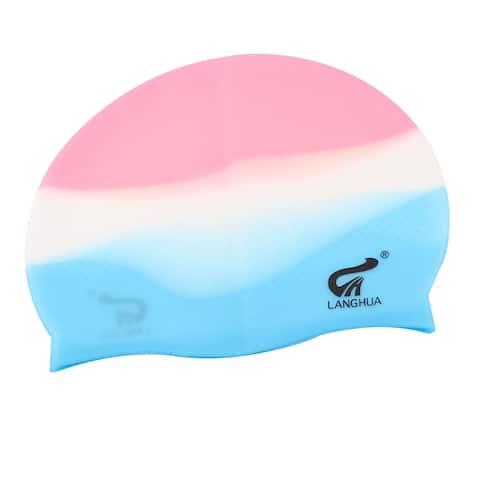 Unique Bargains Nonslip Elastic Silicone Water Sports Waterproof Gear Swimming Cap for Unisex
