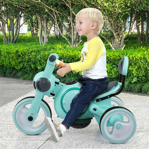Pink&Blue Electric Wheel Bicycle Kids Ride On Motorcycle 6V