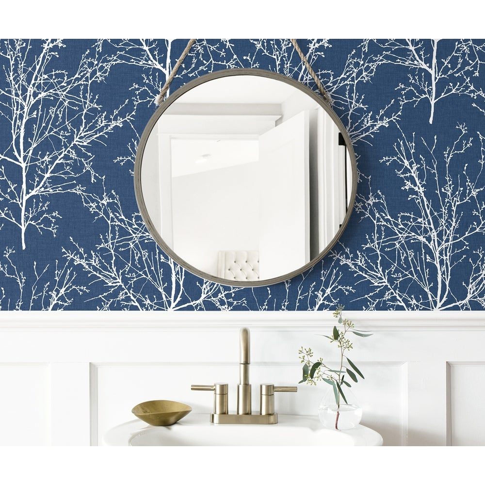 Shop Nextwall Tree Branches Peel And Stick Removable Wallpaper Overstock 31580401