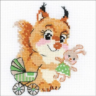 """Playing House (10 Count) - Riolis Counted Cross Stitch Kit 6""""X6"""""""