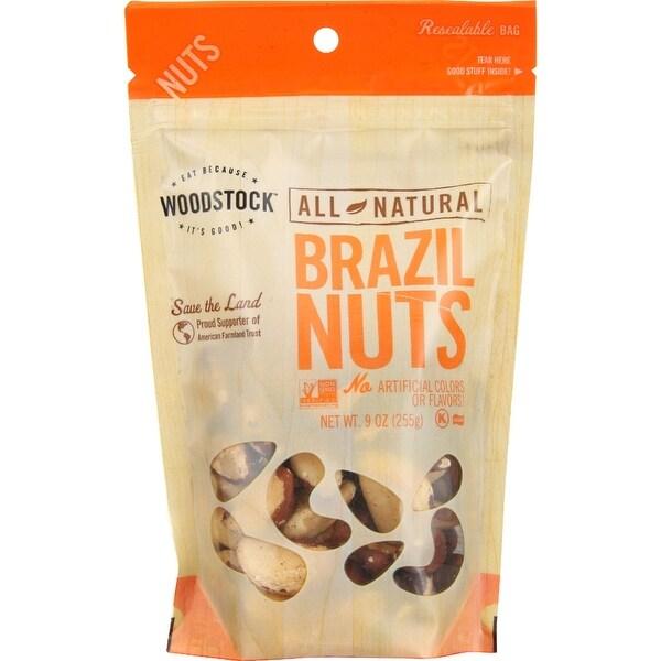 Woodstock Brazil Nuts - Raw - Case of 8 - 9 oz.