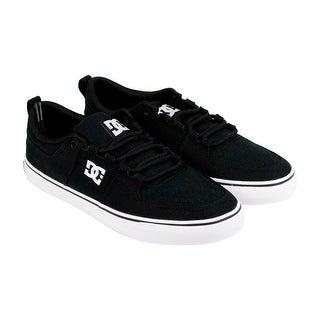 DC LYNX Vulc TX Mens Black Textile Lace Up Sneakers Shoes