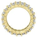 4.40 cttw. 14K Yellow Gold Round Diamond Two Row Eternity Ring - Thumbnail 1