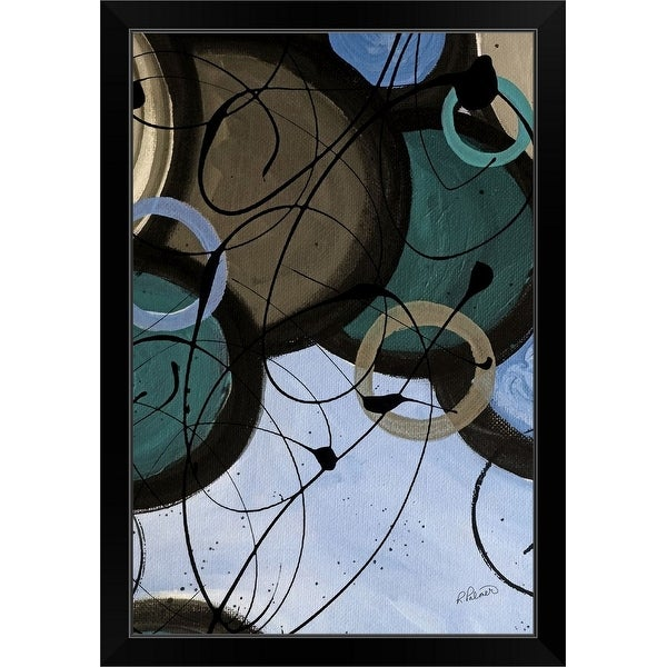 """Energy Flow Light II"" Black Framed Print"