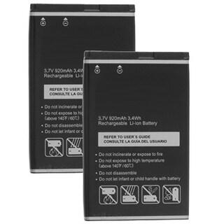 Replacement 920mAh Battery For Pantech Breeze III / C610 Phone Models (2 Pack)