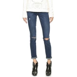 Paige NEW Dark Blue Women's Size 31X27 Slim Skinny Distressed Jeans