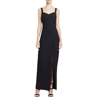 Nicole Miller Womens Evening Dress Front Slit Sleeveless