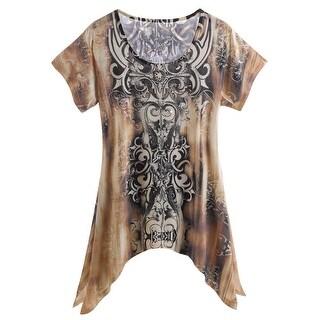 Women's Tunic Top - Jewels Of The Earth Fashion T-Shirt