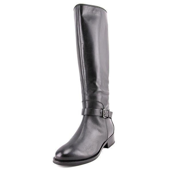 Cole Haan Sonna Women Round Toe Leather Black Knee High Boot