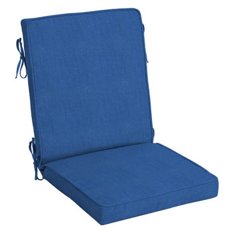 Arden Selections Acrylic Outdoor 44 x 20 in. Welted High Back Chair Cushion