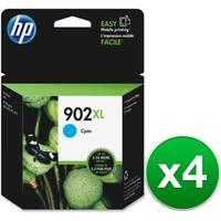 HP 902XL High Yield Cyan Original Ink Cartridge (T6M02AN) (4-Pack)
