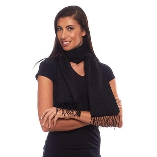 Euro Chic Textured Acrylic Scarf with Fringe