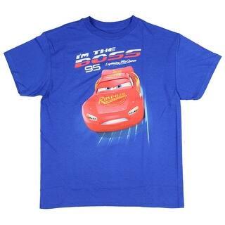 "Disney Cars Toddler Boys Lightening McQueen ""I'm The Boss"" 95 T-Shirt https://ak1.ostkcdn.com/images/products/is/images/direct/3cfe5512bdeeb7205da5a43d52ddb7d1565e5f07/Disney-Cars-Toddler-Boys-Lightening-McQueen-%22I%27m-The-Boss%22-95-T-Shirt.jpg?impolicy=medium"