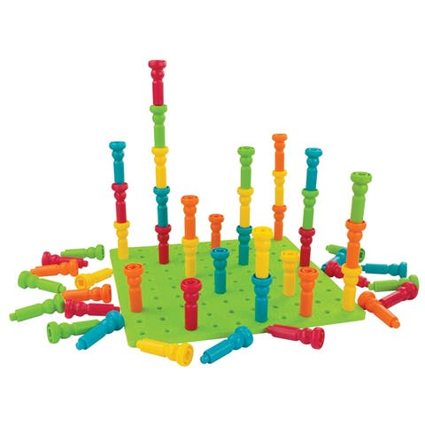 Lauri large tall-stacker peg set 50 pegs 2446