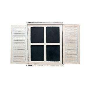 White and Black Chalkboard Window Box