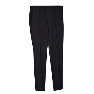 Vince Camuto Women's Pintucked Skinny Leg Pants (0, Rich Black) - 0