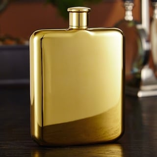Benway Plated Gold Flask