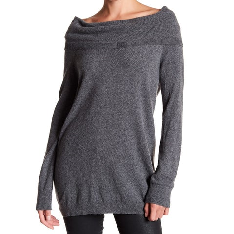 Splendid Lead Womens Popover Off-Shoulder Sweater