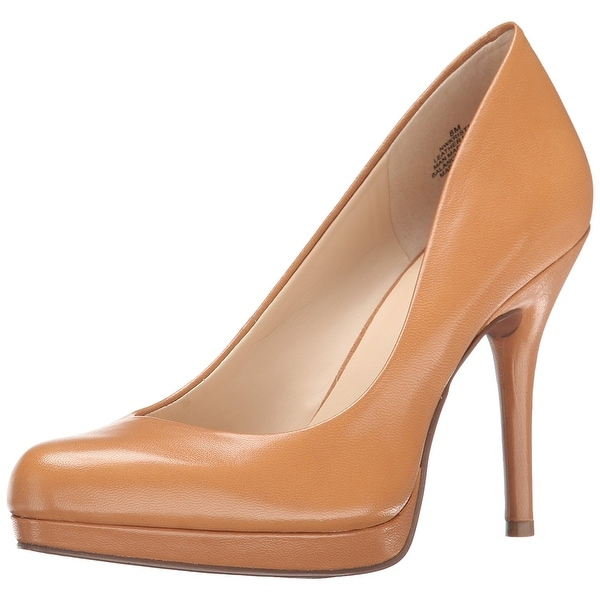 Nine West Womens Kirstal Leather Closed Toe Classic Pumps