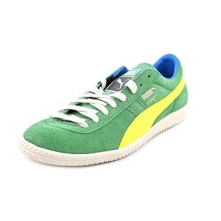 Puma Brasil Football Vintage Men Round Toe Suede Green Sneakers