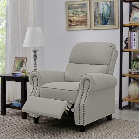 Copper Grove Jessie Linen Push Back Recliner Chair