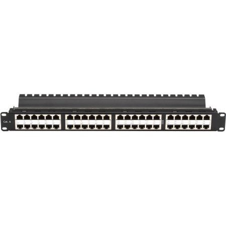 Black Box Network Services - Cat6 Feed-Through Patch Panel, Shielded,