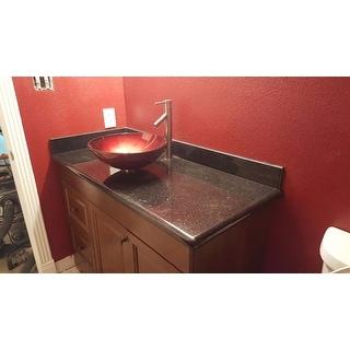 KRAUS Irruption Glass Vessel Sink in Red