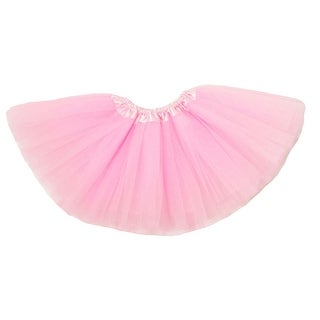 Baby Girls Light Pink Satin Elastic Waist Ballet Tutu Skirt 0-12M