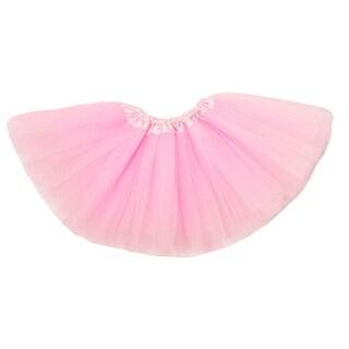 Baby Girls Light Pink Satin Elastic Waist Ballet Tutu Skirt 0-12M