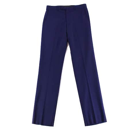 VINCE CAMUTO Mens 40X33 Slim Fit Dress Flat Front Wool Pants