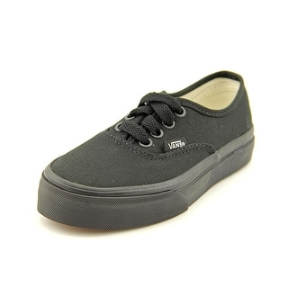 Vans Authentic Youth Round Toe Canvas Black Sneakers